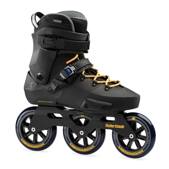 black yellow tri skates