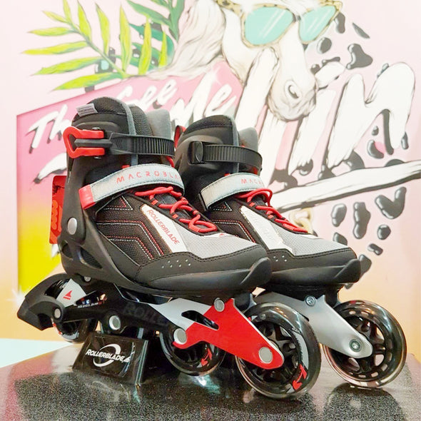 Rollerblade Macroblade 80 Red Inlines *Last Pairs* Size 7.5, 11.5