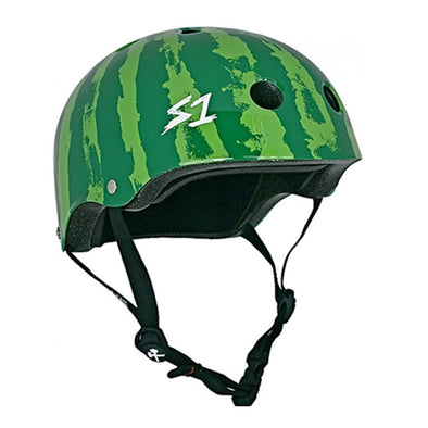 green watermelon helmet