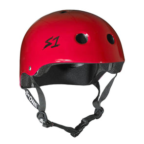 red skate bike helmet