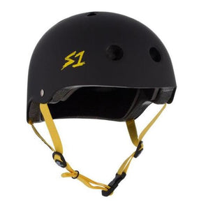 black skate helmet bike