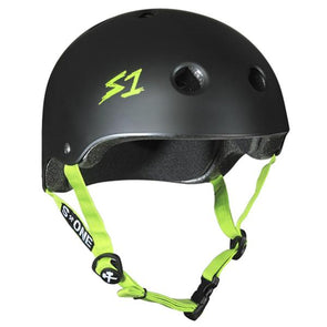 black green bike skate helmet