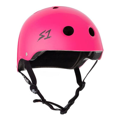 hot pink helmet
