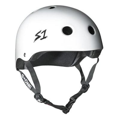 white bike skate helmet