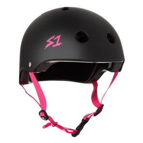 black pink bike helmet