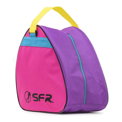 pink purple kids triangle skate bag