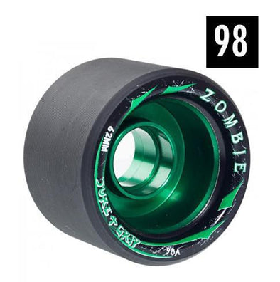 ZOMBIE green alloy speed SKATE WHEELS