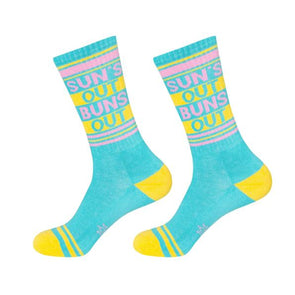 Sun's Out Buns Out Gym Socks