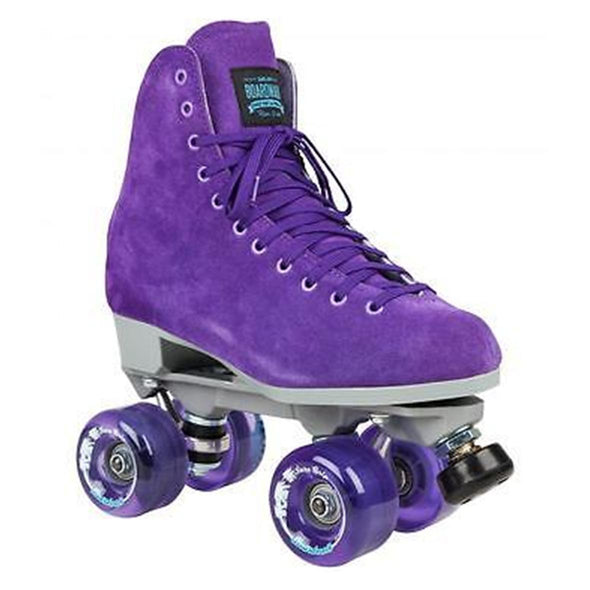 purple high top rollerskates