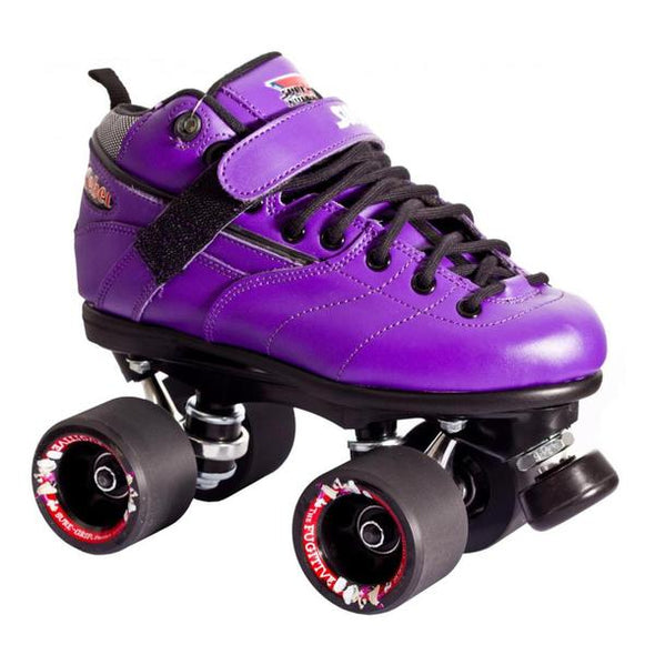 suregrip purple rollerskates leather