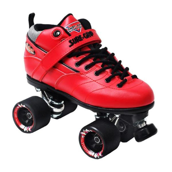 rebel red leather roller skates