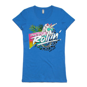 They See Me Rollin Womens Tee Blue
