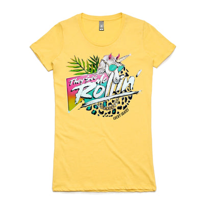 They See Me Rollin Womens Tee Yellow