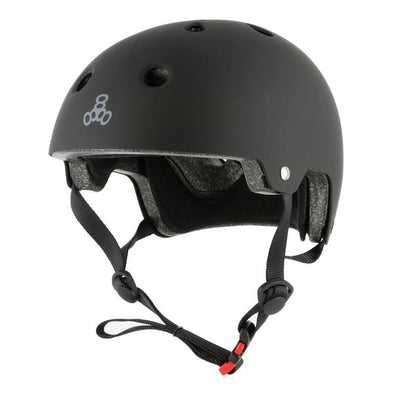 matt black bike skate helmet