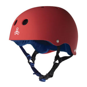 Triple 8 Red/Blue Rubber Helmet