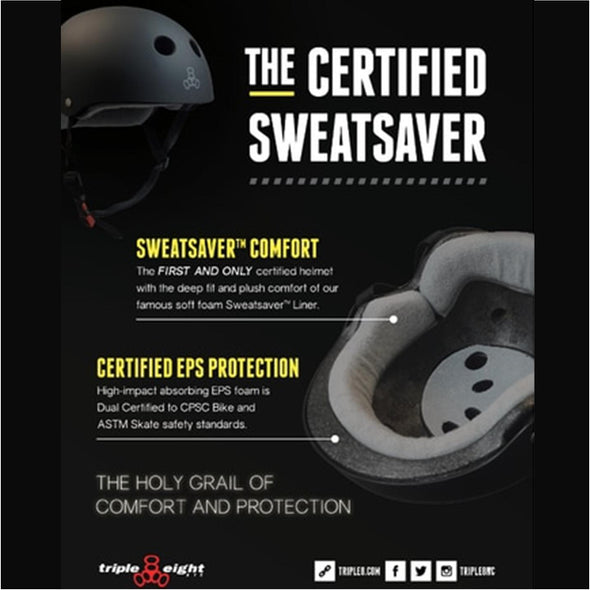 Triple 8 The Visor Certified SS Matte Black Rubber Helmet