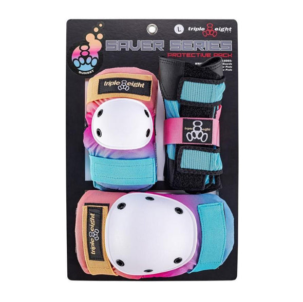 pink blue purple knee elbow wrist guards