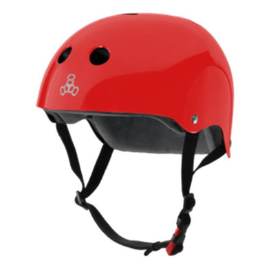 red gloss bike skate helmet