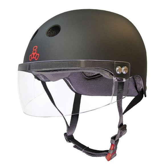 visor helmet for roller derby