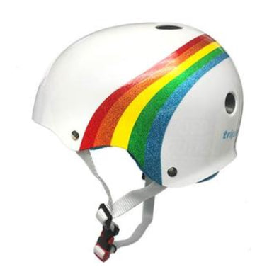 Triple 8 Certified SS Rainbow Sparkle White Helmet