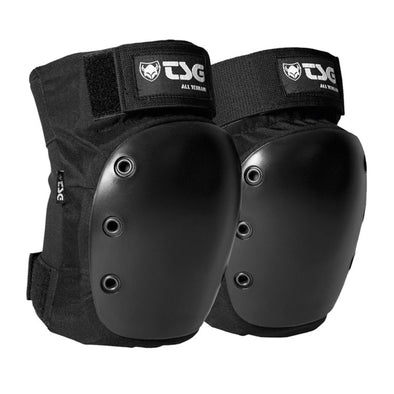 BLACK SLIM ROLLER SKATING KNEE PADS