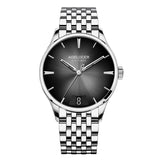 Agelocer Mens Dress Watches Steel Automatic Watches Black Dial 4202A9