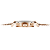 Agelocer Mens Business Rose Gold White Dial Rose Gold Bracelet Watch with Date Power Reserve 4101D9
