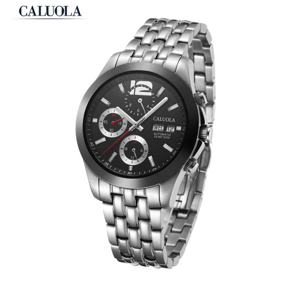 Caluola Sport Auto Watch Luminous Day-Date Month Fashion Men Watches 1072M