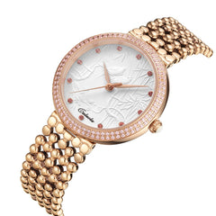 Caluola Women Watch Quartz Diamond Fashion Business Watch 1145