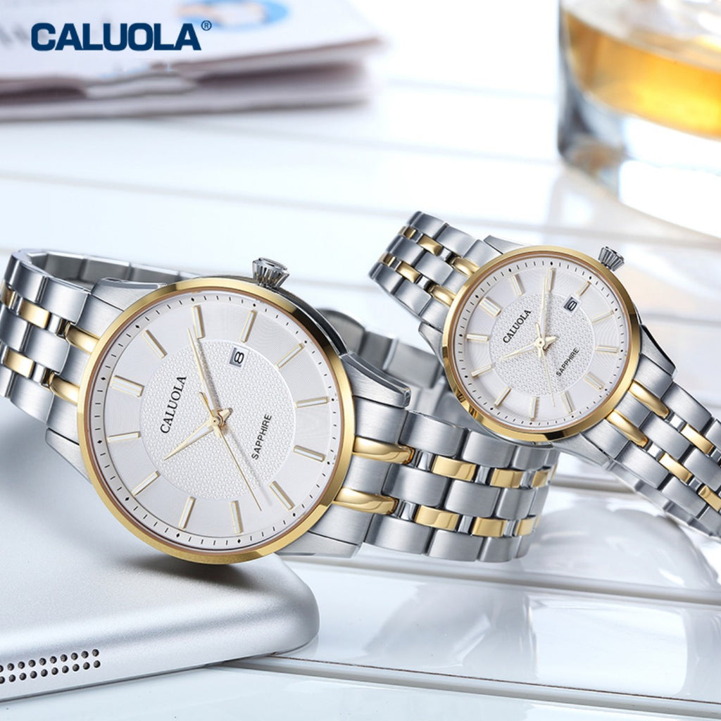 Caluola Business Watch Fashion Quartz Watch Day Women Casual Watch CA1215