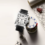 Agelocer Square Couple Watches for Men Women Analog Automatic Waterproof Watches 3302A1-3402A1