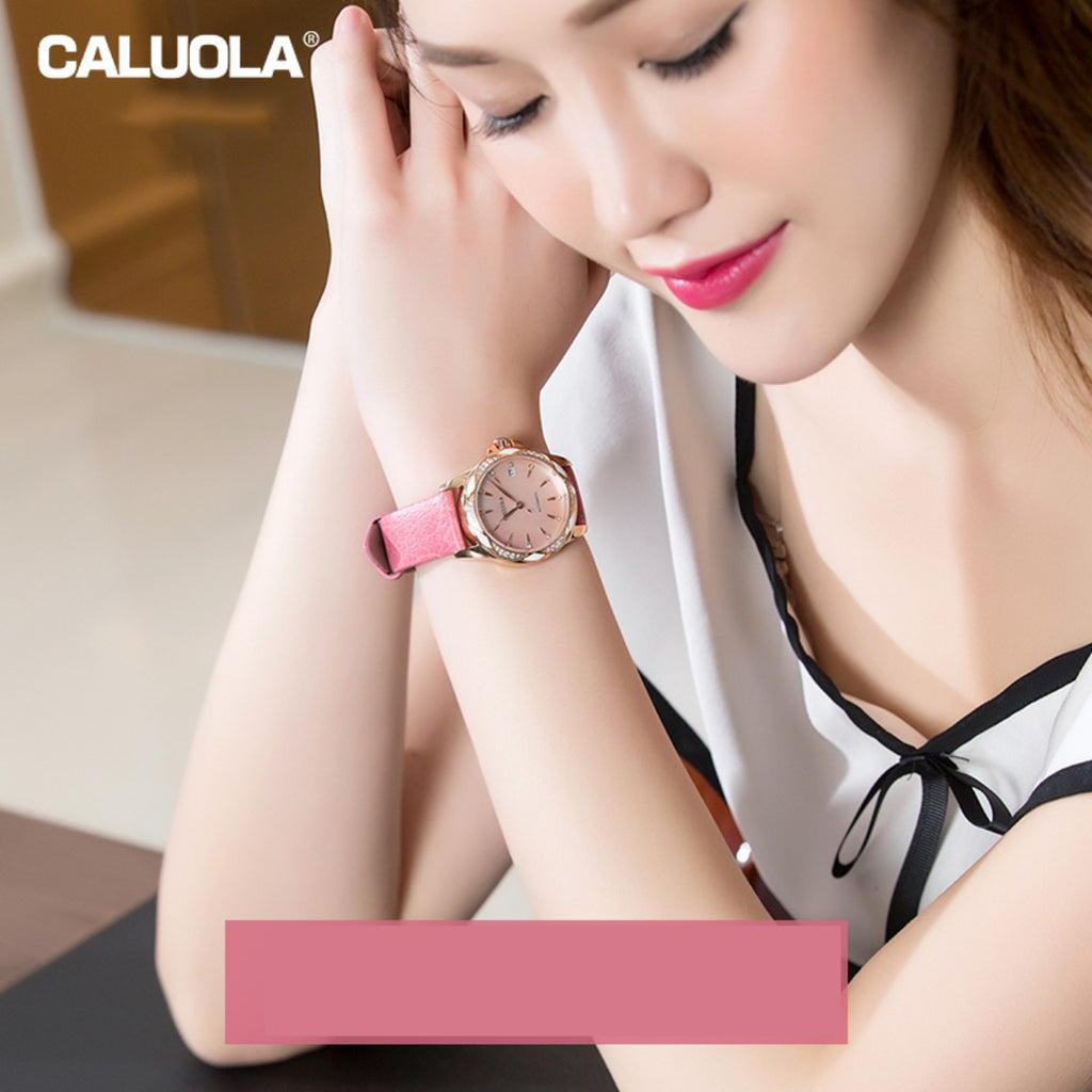 Caluola Women Watch Automatic Diamond Fashion Business Watch CA1206ML