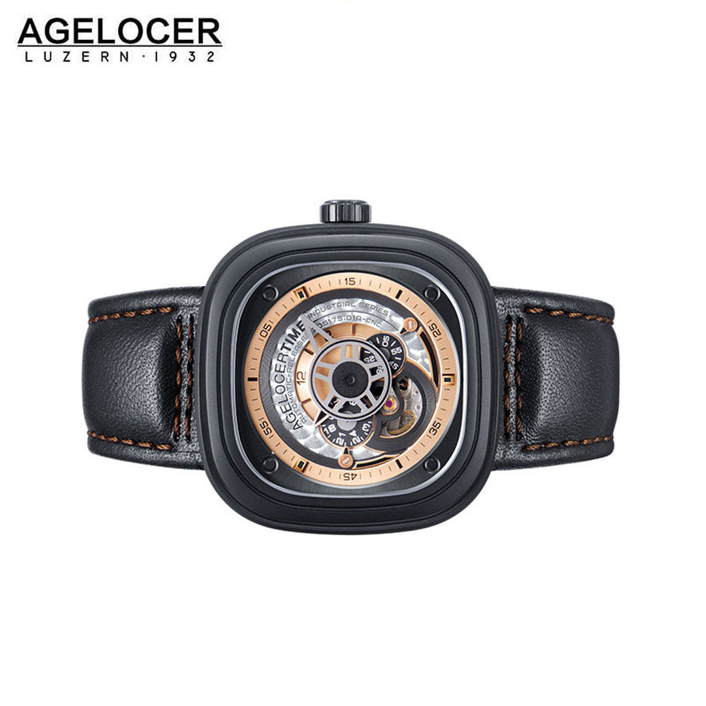 Agelocer Luxury Causal Watches Men Sapphire Glass Stainless Steel Diver Wrist Watch 5002B2