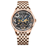 Agelocer Skeleton Automatic Watches for Men Rose Gold Analog Watches 5401S