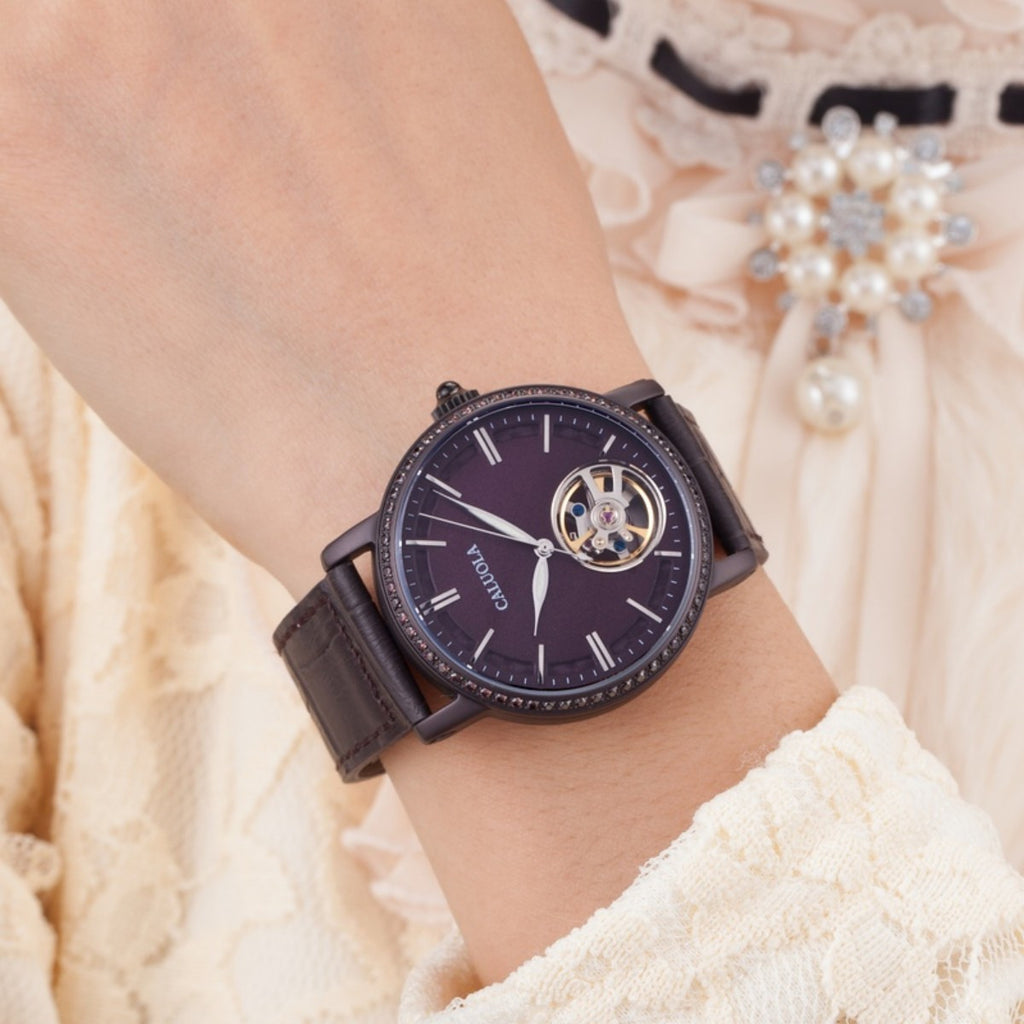 Caluola Women Watch Automatic Skeleton Fashion Casual Watch CA1115M-2