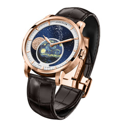 Agelocer Top Brand Designer Watch Men Sapphire Crystal Rose Gold Moop Phase Watches 6401D2