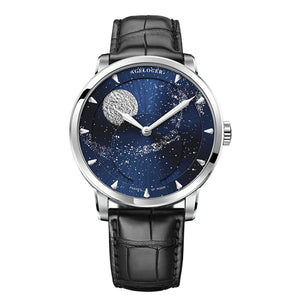 2019 Agelocer Luxury Brand Blue Automatic Watches Moon Phase Power Reserve Mechanical Watch 6404A1