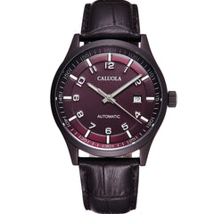 Caluola Fashion Watch Automatic Date Men PVD Watch Business Watch CA1069MM