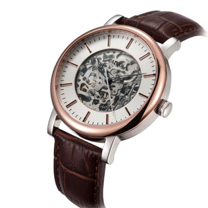 Caluola Men Watch Fashion Automatic Skeleton Dial Business Watch CA1033M