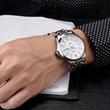 Caluola Business Men Watch Automatic Fashion Day-Date Casual Watch CA1157MM