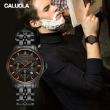 Caluola Automatic Watch Men Watch Day-Date Power Reserve Month Fashion CA1163MM1