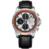Caluola Fashion Watch Men Watch Automatic Day-Date Month Sport PVD Watch CA1170M