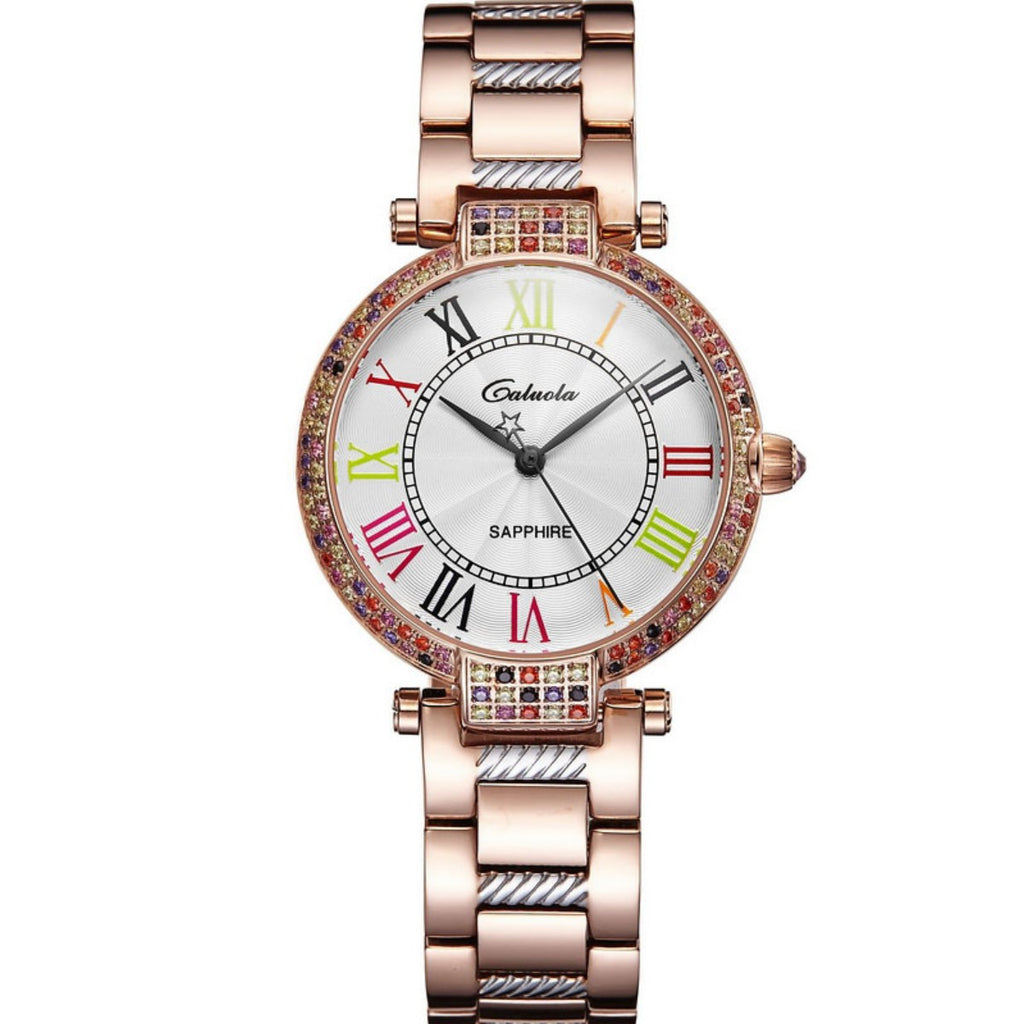 Caluola Quartz Watch Diamond Fashion Watch Elegant Women Watch CA1192