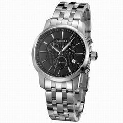 Caluola Quartz Watch With Date Fashion Men Chronograph Sport Watch CA1014G