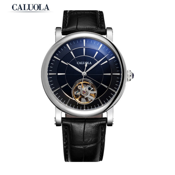 Caluola Automatic Watch Men Watch Hollow Tourbillon Vintage Watch CA1128M