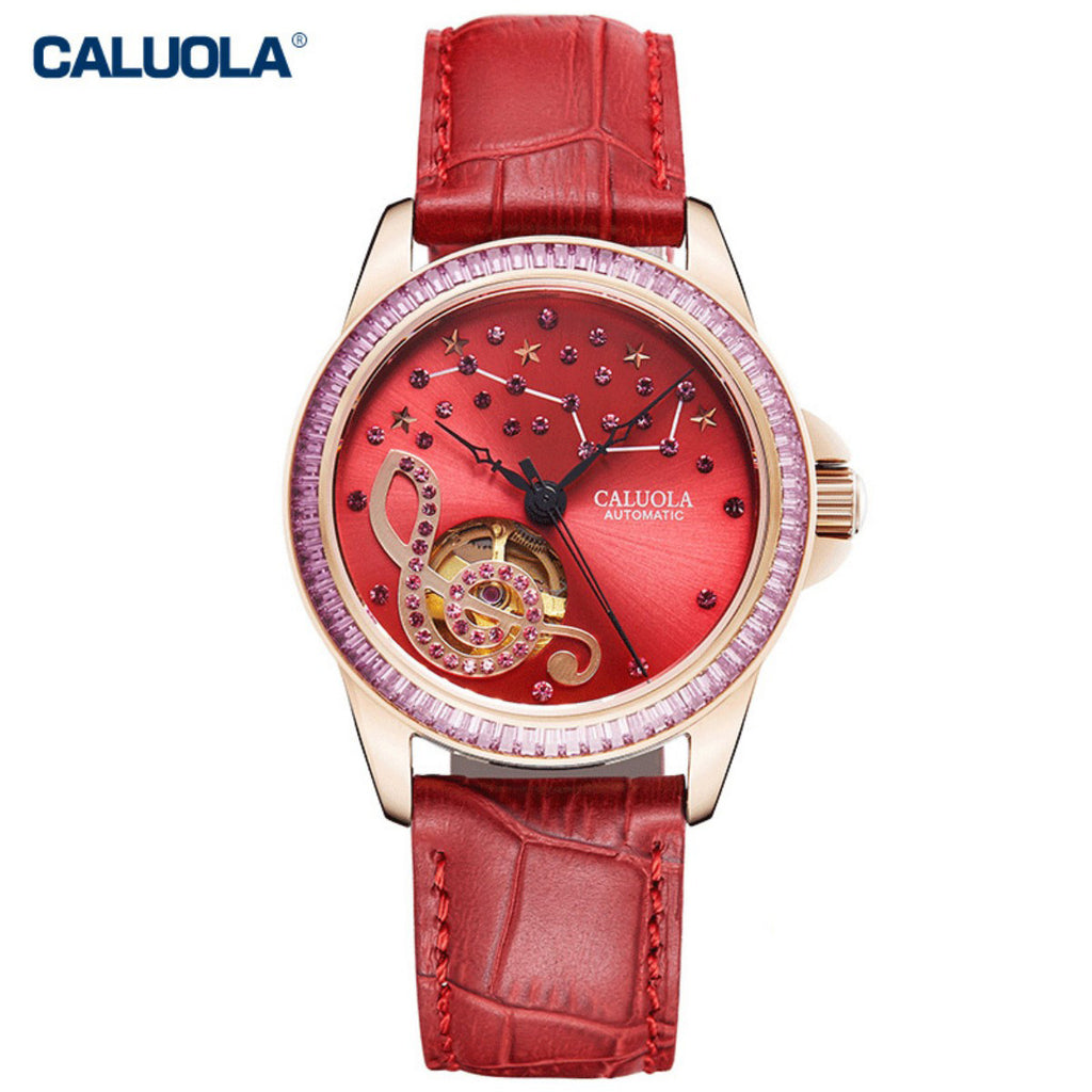 Caluola Women Watch Automatic Diamond Fashion Watch 1210