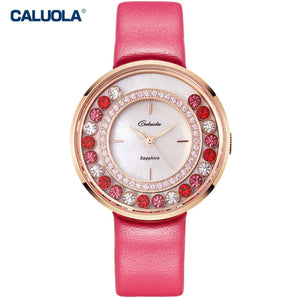 Caluola Quartz Watch Fashion Design Diamond Women Watch Luminous Watch CA1139L