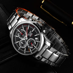 Reef Tiger Chronograph Date Steel Red Hands Quartz Watches RGA1663