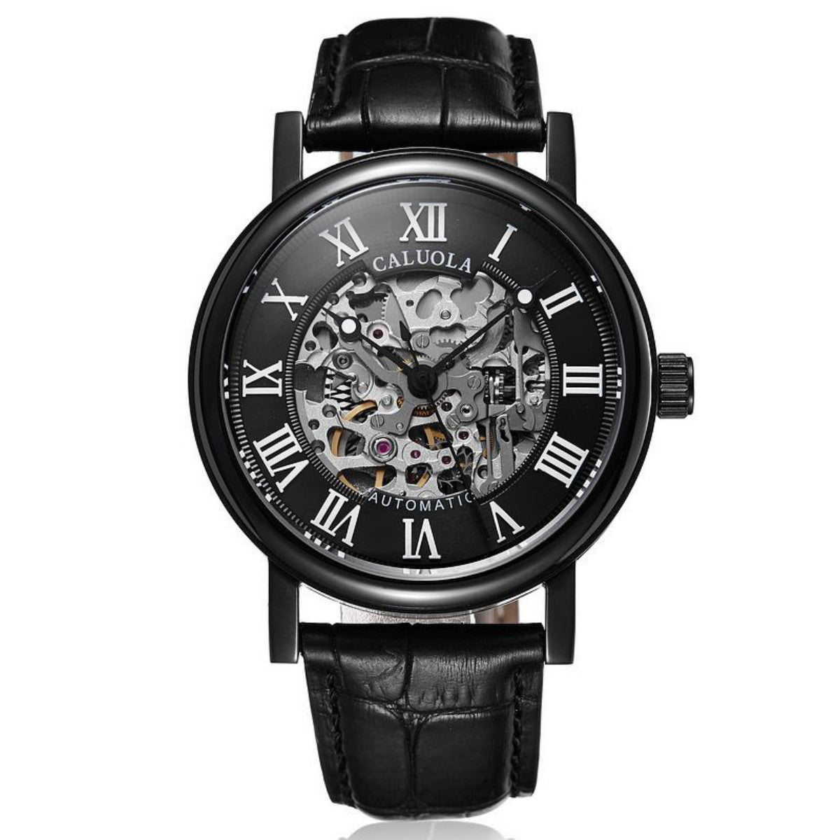 Caluola Men Watch Automatic Skeleton Dial Fashion Watch CA1089MM