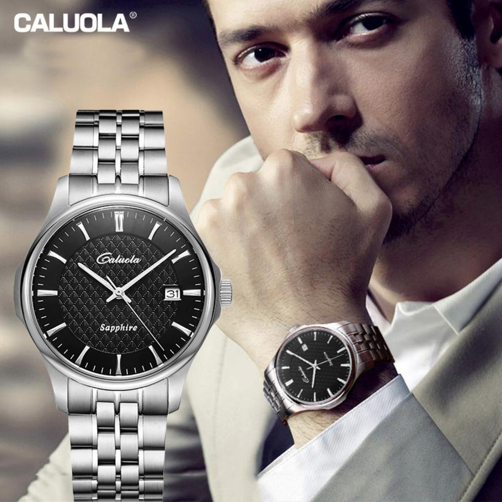 Caluola Automatic Watch Fashion Date Men Watch Luminous CA1166mm